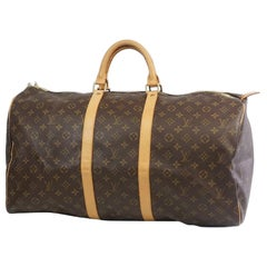 LOUIS VUITTON Keepall 55 unisex Boston bag M41424