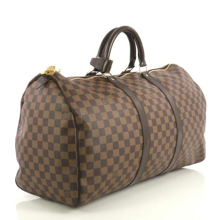 Louis Vuitton Keepall Bag Damier 50 For Sale At 1stdibs