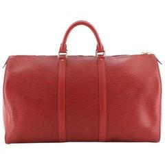Louis Vuitton Keepall Bag Epi Leather 50