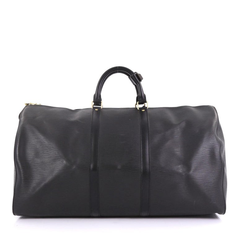 22ffc2ace5a7 Louis Vuitton Keepall Bag Epi Leather 55 In Good Condition For Sale In New  York,