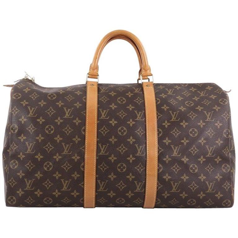 d842f69f09377 Louis Vuitton Keepall Tasche Monogram Canvas 50 bei 1stdibs