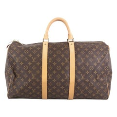 Louis Vuitton Keepall Bag Monogram Canvas 50