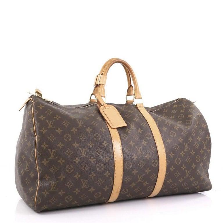 Gray Louis Vuitton Keepall Bag Monogram Canvas 55 For Sale