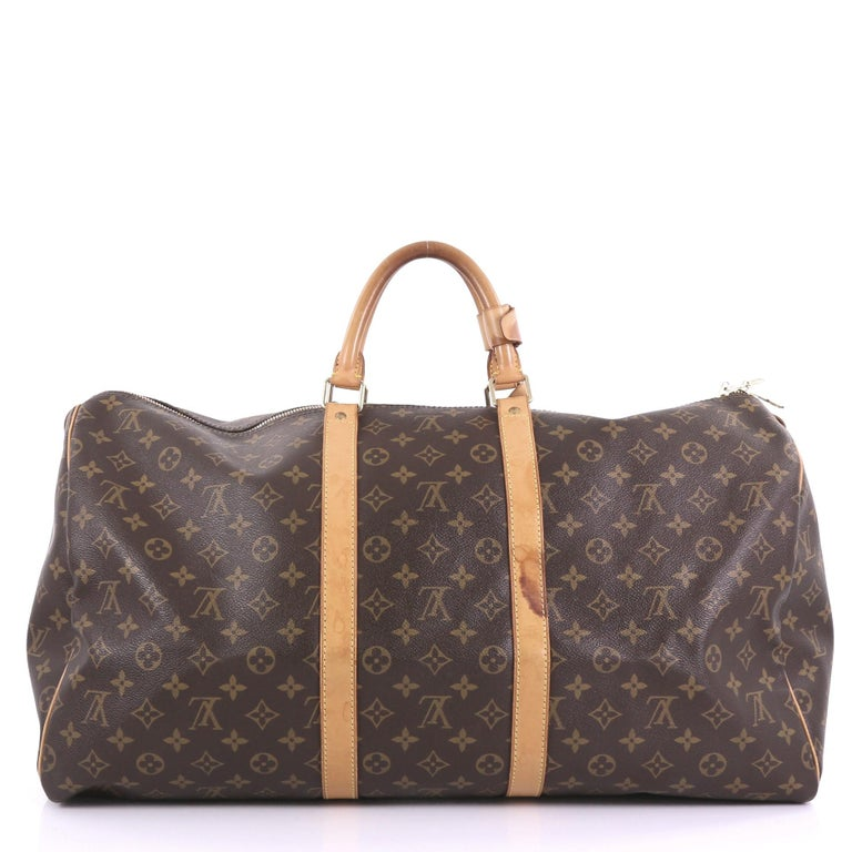 Louis Vuitton Keepall Bag Monogram Canvas 55 In Fair Condition For Sale In New York, NY