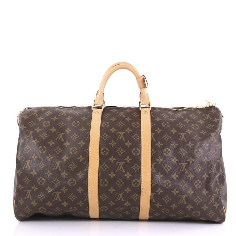 Louis Vuitton Keepall Bag Monogram Canvas 55 In Good Condition For Sale In New York, NY