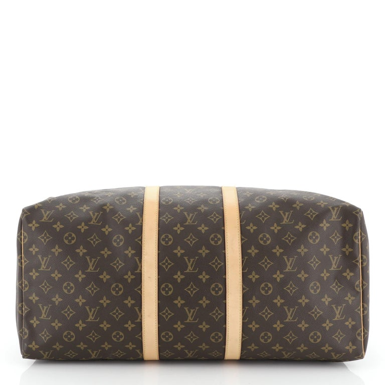 Women's or Men's Louis Vuitton Keepall Bag Monogram Canvas 55 For Sale