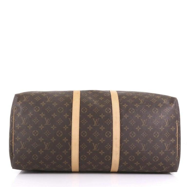Women's or Men's Louis Vuitton Keepall Bag Monogram Canvas 55 For Sale