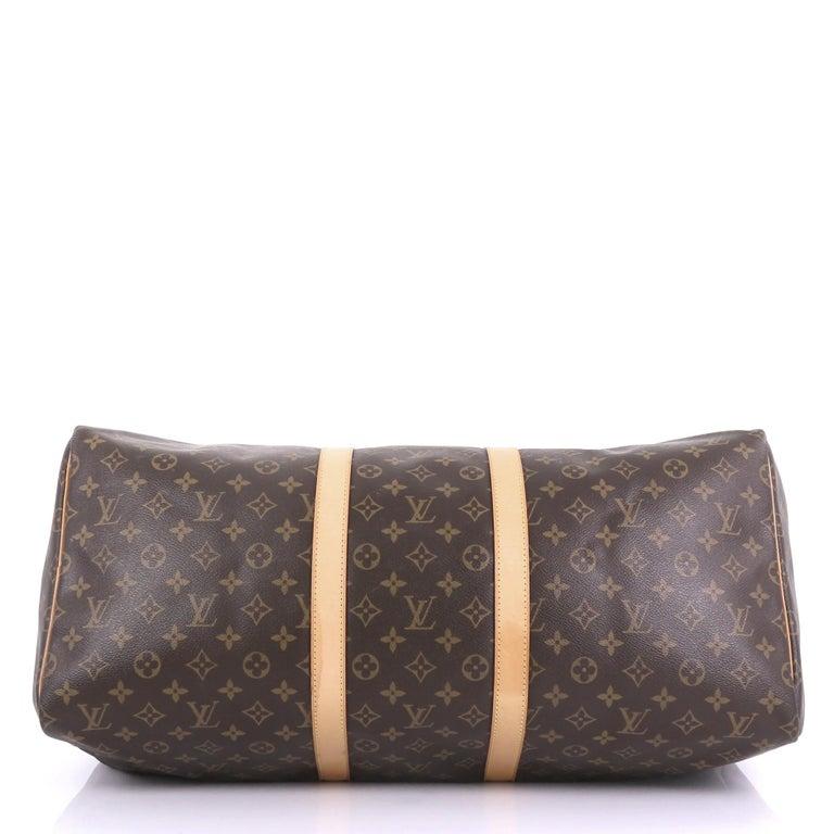 Women's Louis Vuitton Keepall Bag Monogram Canvas 55 For Sale