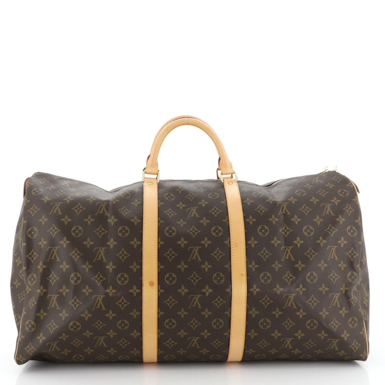 Louis Vuitton Keepall Bag Monogram Canvas 60 In Good Condition For Sale In New York, NY
