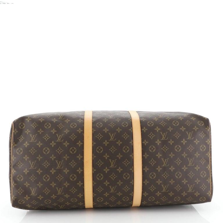 Women's or Men's Louis Vuitton Keepall Bag Monogram Canvas 60 For Sale