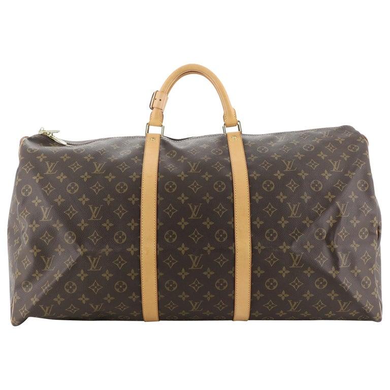 Louis Vuitton Keepall Bag Monogram Canvas 60 For Sale