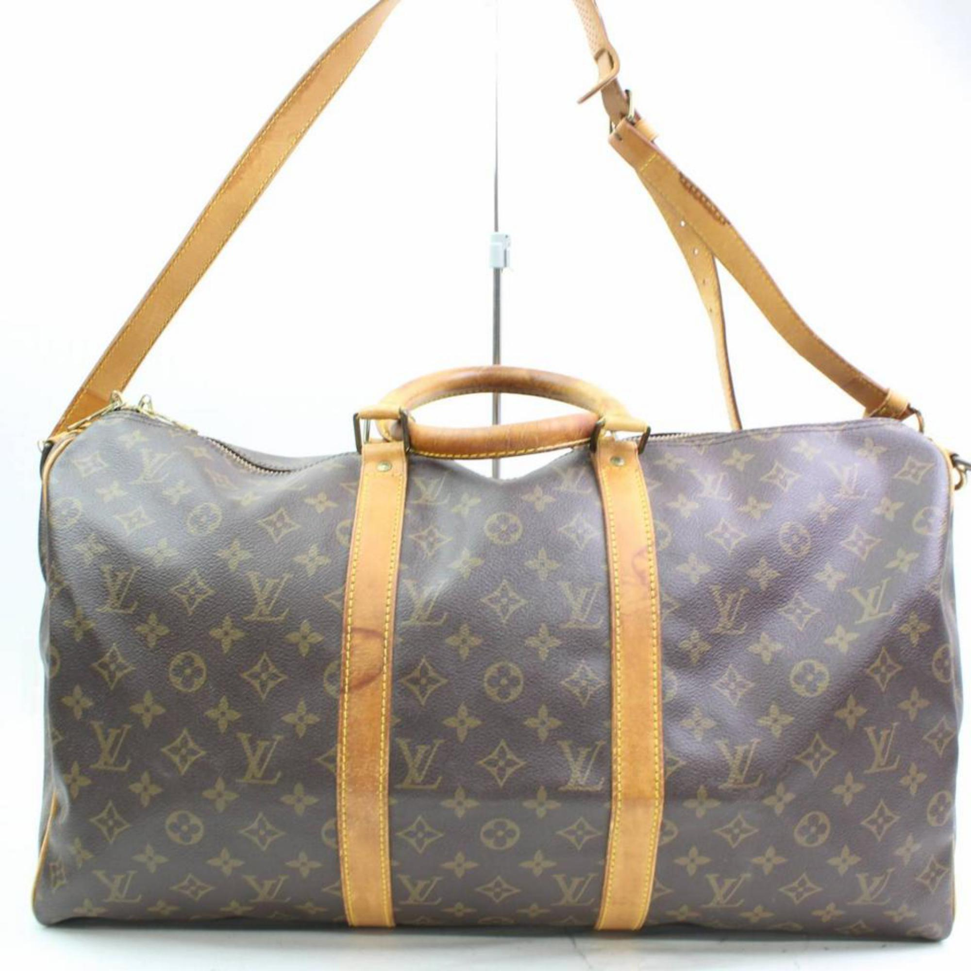 4416d67c518a Louis Vuitton Keepall Bandouliere 50 866534 Coated Canvas Weekend Travel Bag  For Sale at 1stdibs
