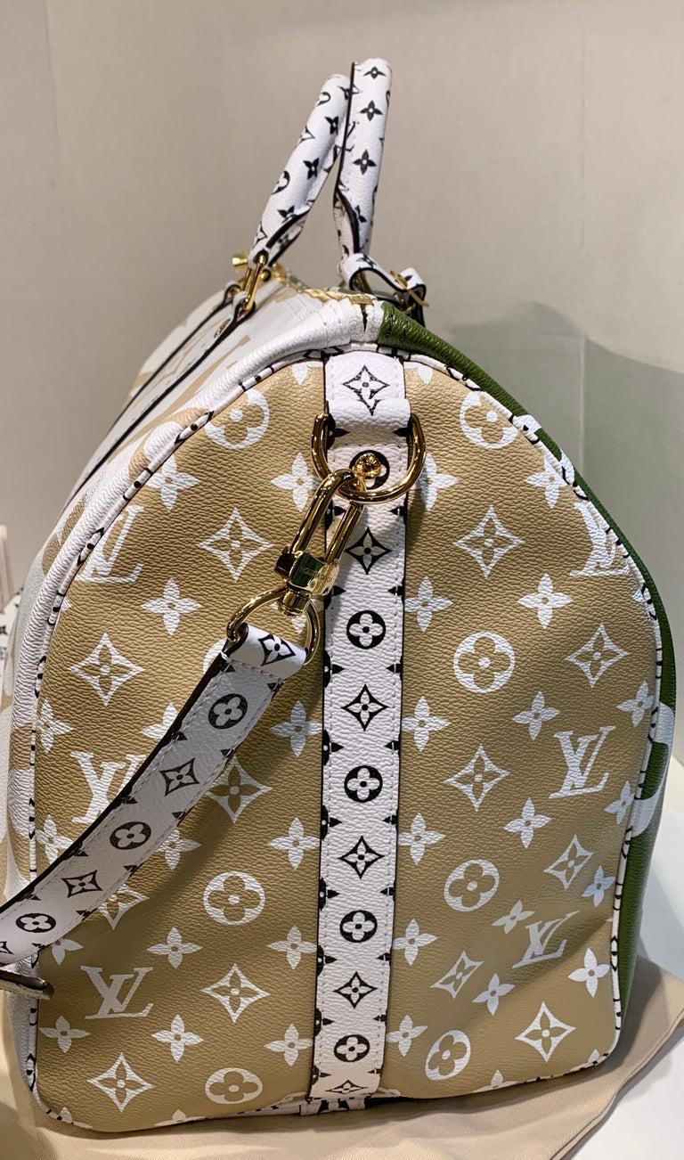 Women's or Men's Louis Vuitton Keepall Bandouliere 50 Giant Travel Bag Summer 2019 Duffle Bag For Sale