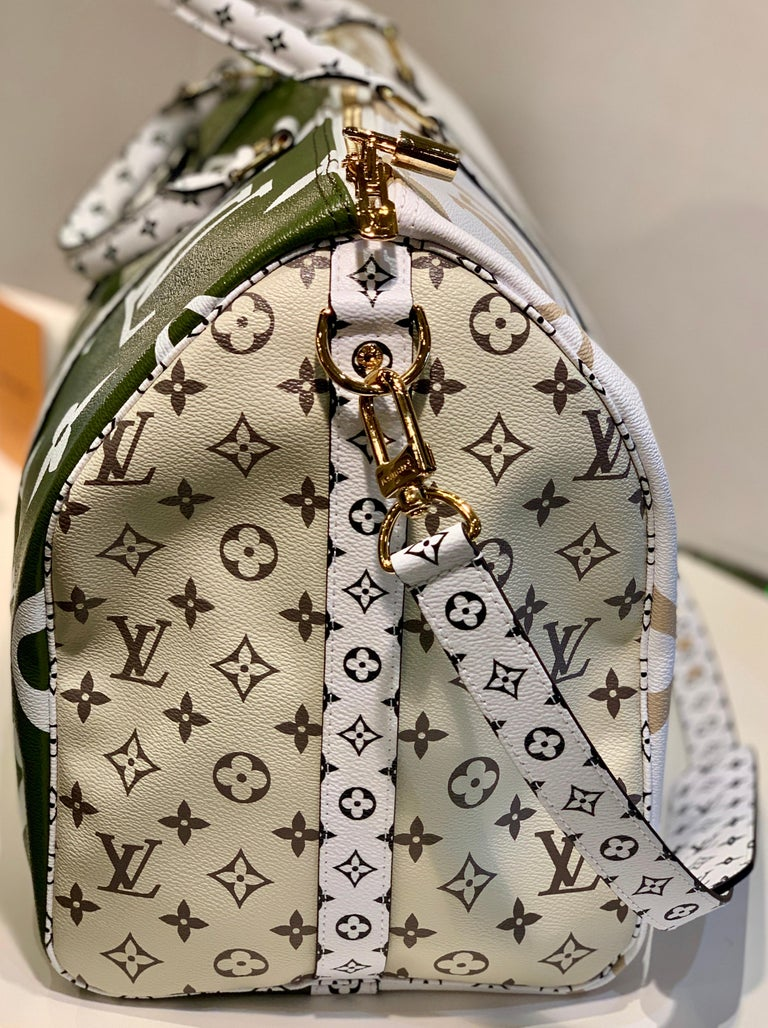 Louis Vuitton Keepall Bandouliere 50 Giant Travel Bag Summer 2019 Duffle Bag For Sale 1