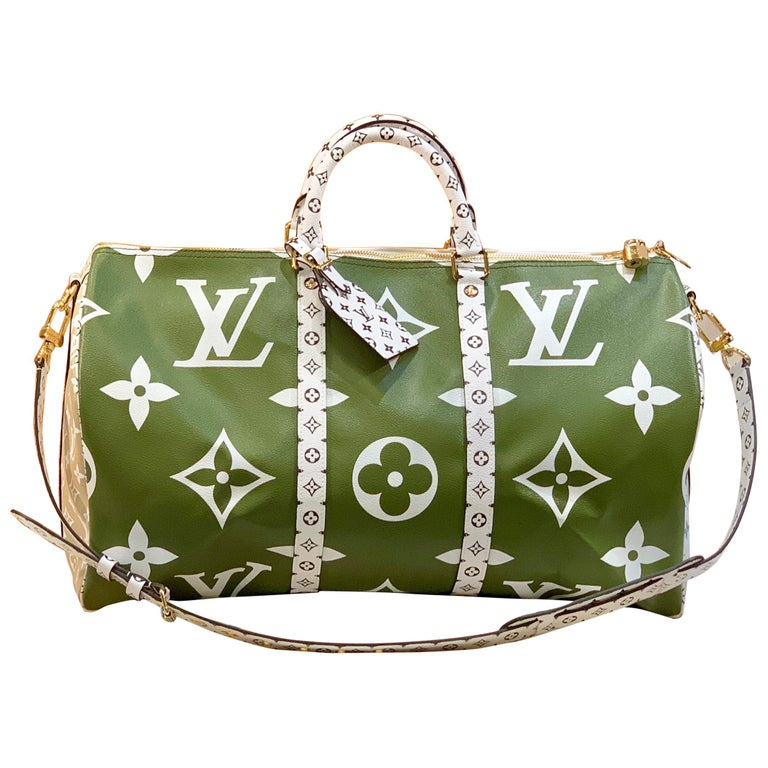 Louis Vuitton Keepall Bandouliere 50 Giant Travel Bag Summer 2019 Duffle Bag For Sale