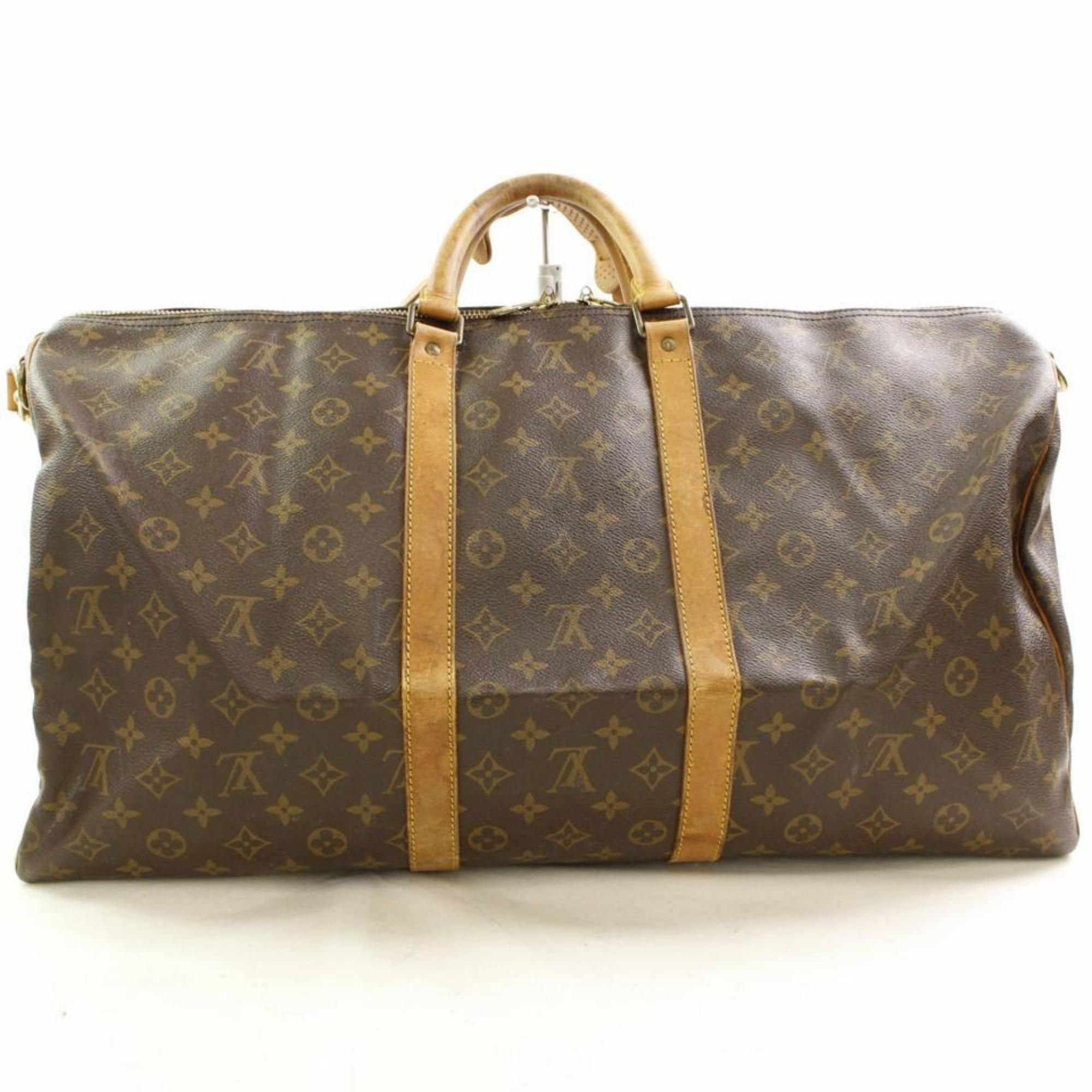 fef1801a8c47 Louis Vuitton Keepall Bandouliere 55 866482 Coated Canvas Weekend Travel Bag  For Sale at 1stdibs