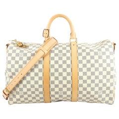 Louis Vuitton Keepall Bandouliere Bag Damier 45