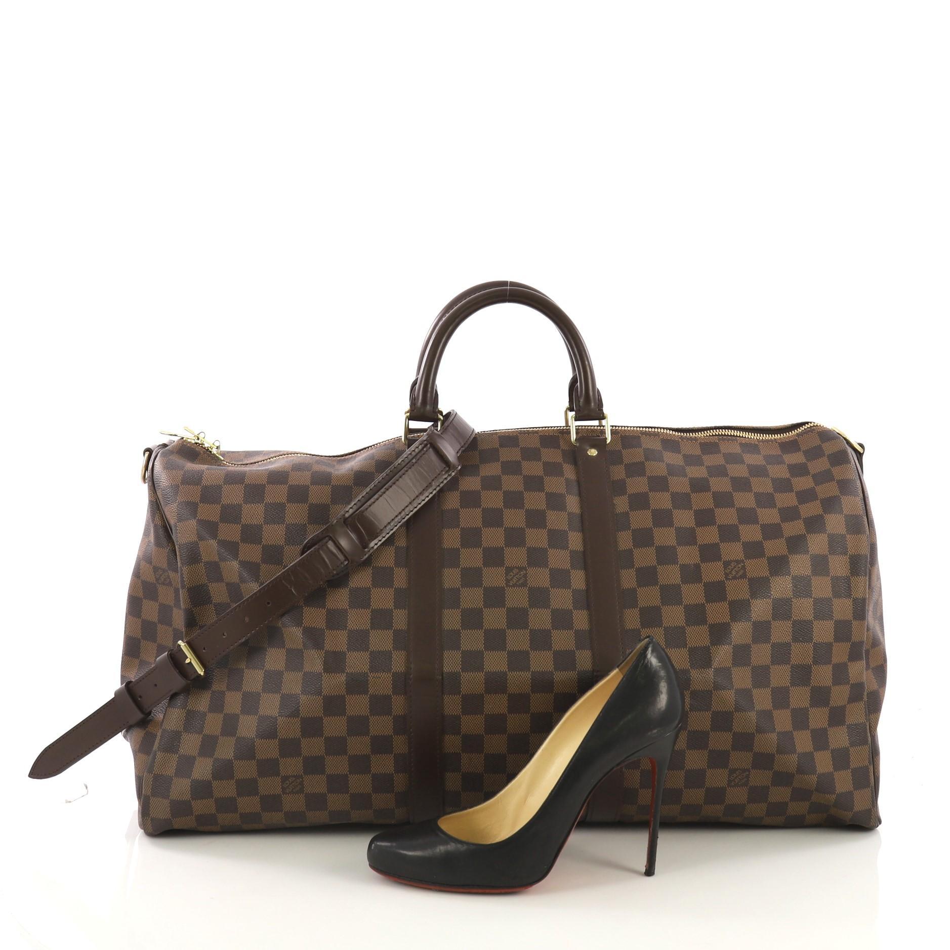 52e1d672e3 Louis Vuitton Keepall Bandouliere Bag Damier 55