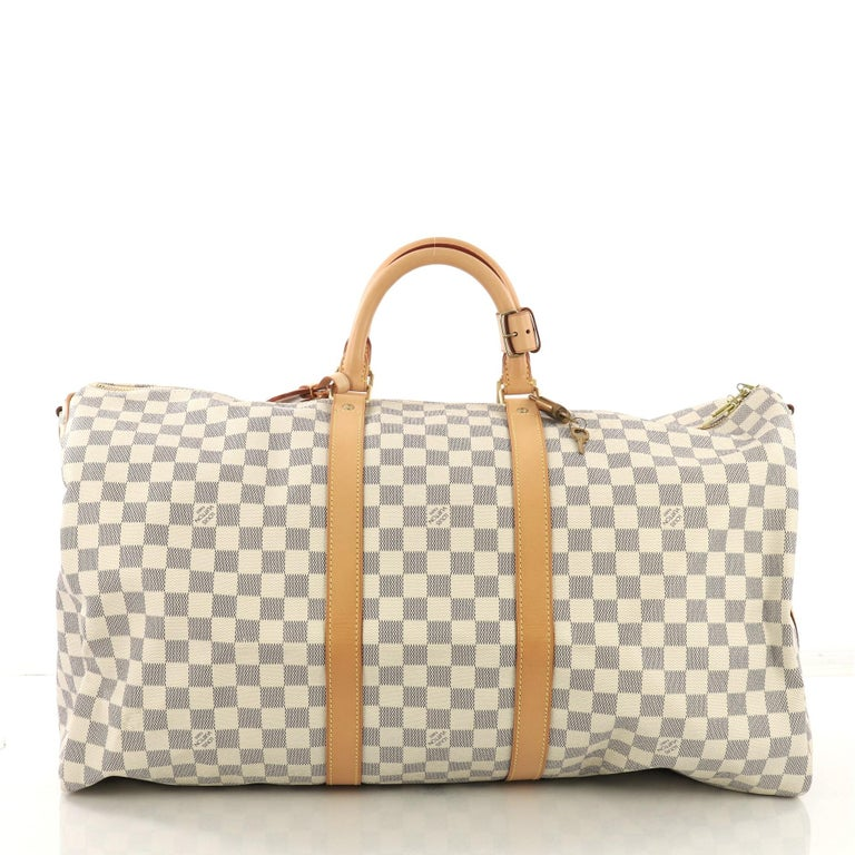 Louis Vuitton Keepall Bandouliere Bag Damier 55 In Good Condition For Sale In New York, NY