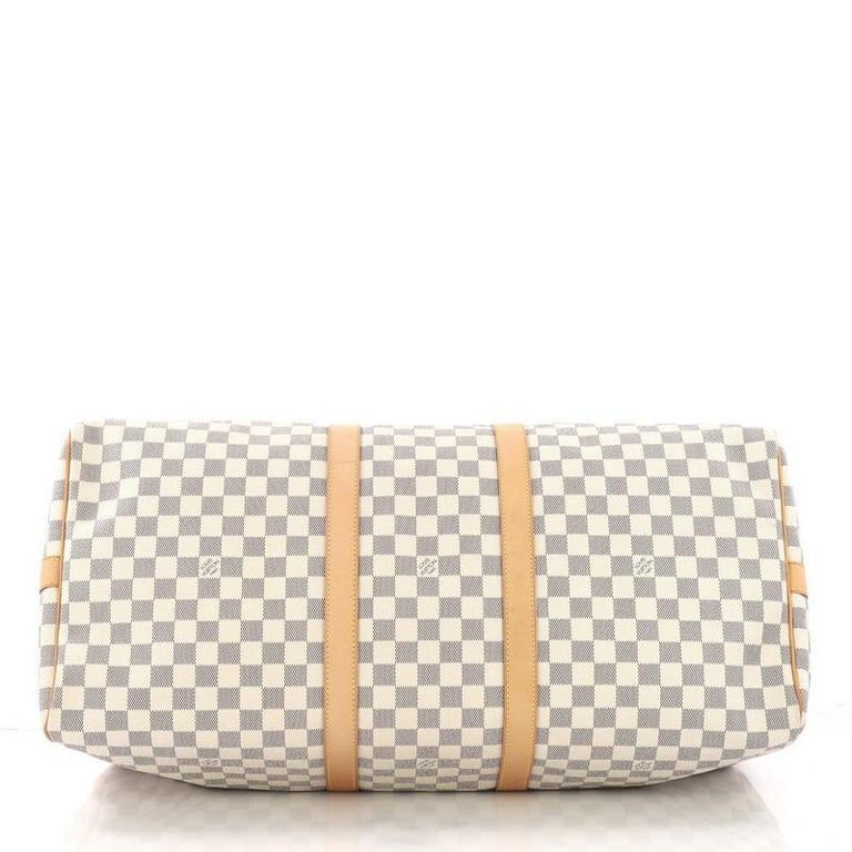 Women's or Men's  Louis Vuitton Keepall Bandouliere Bag Damier 55 For Sale