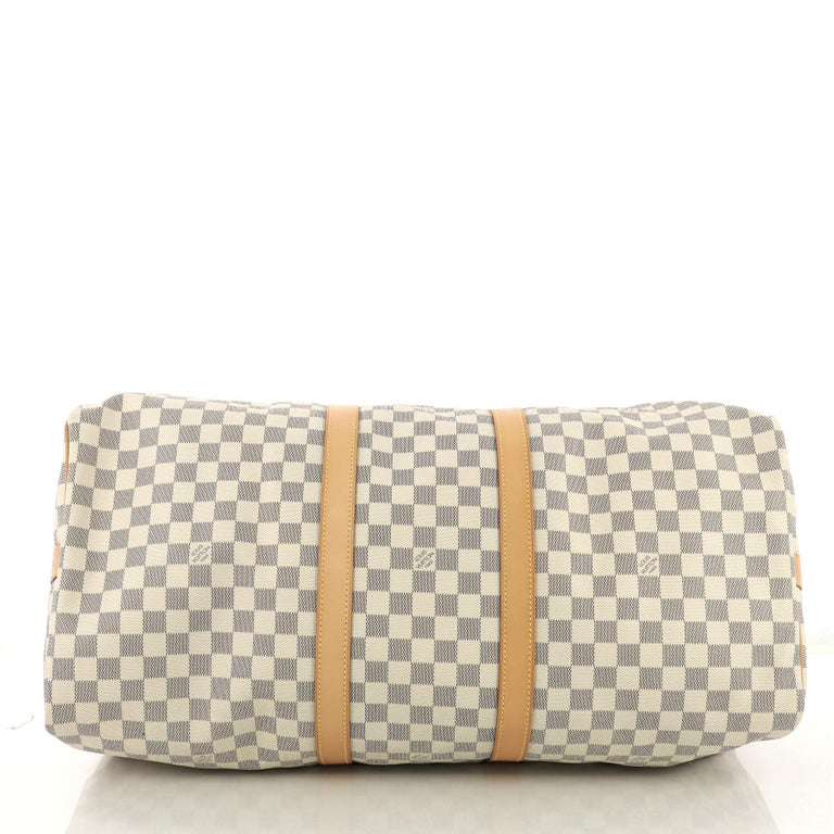 Women's Louis Vuitton Keepall Bandouliere Bag Damier 55 For Sale