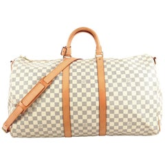 Louis Vuitton Keepall Bandouliere Bag Damier 55
