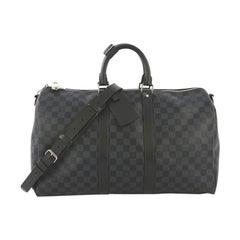 Louis Vuitton Keepall Bandouliere Bag Damier Cobalt 45