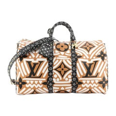 Louis Vuitton Keepall Bandouliere Bag Limited Edition Crafty Monogram Gia