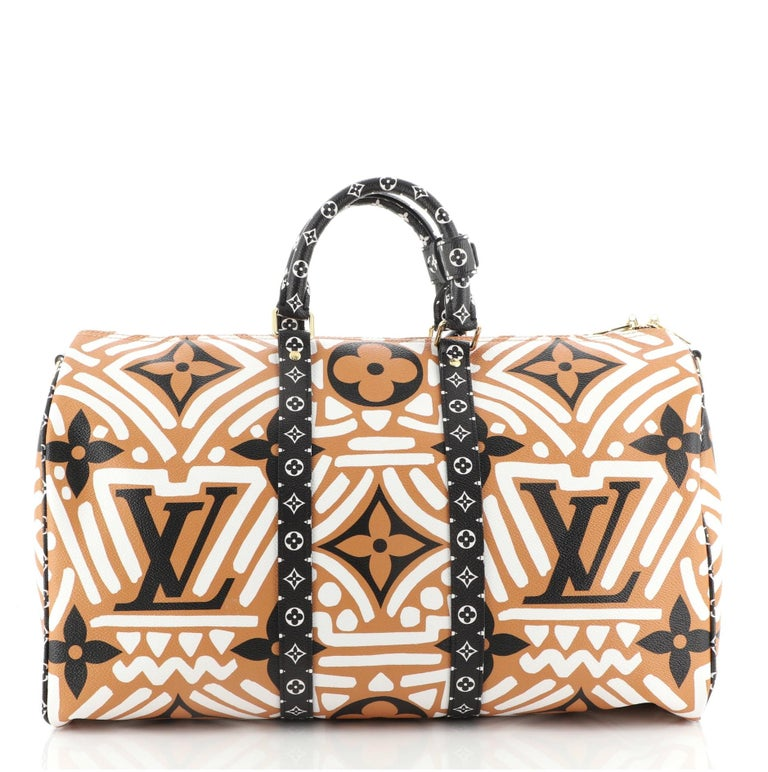 Louis Vuitton Keepall Bandouliere Bag Limited Edition Crafty Monogram Giant 45 In Good Condition For Sale In New York, NY