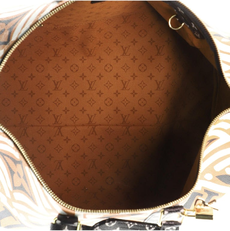 Louis Vuitton Keepall Bandouliere Bag Limited Edition Crafty Monogram Giant 45 For Sale 1