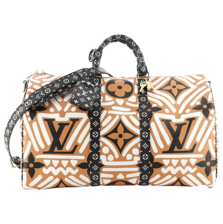 Louis Vuitton Keepall Bandouliere Bag Limited Edition Crafty Monogram Giant 45 For Sale