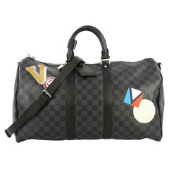 Louis Vuitton Keepall Bandouliere Bag Limited Edition Damier Graphite LV League