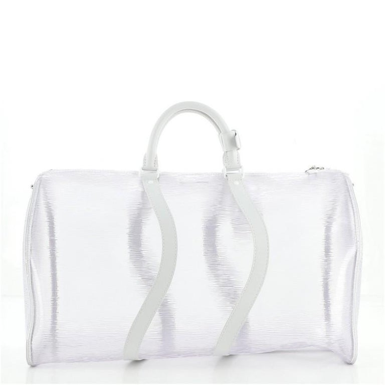 Louis Vuitton Keepall Bandouliere Bag Limited Edition Epi Plage Leather 5 In Good Condition For Sale In New York, NY