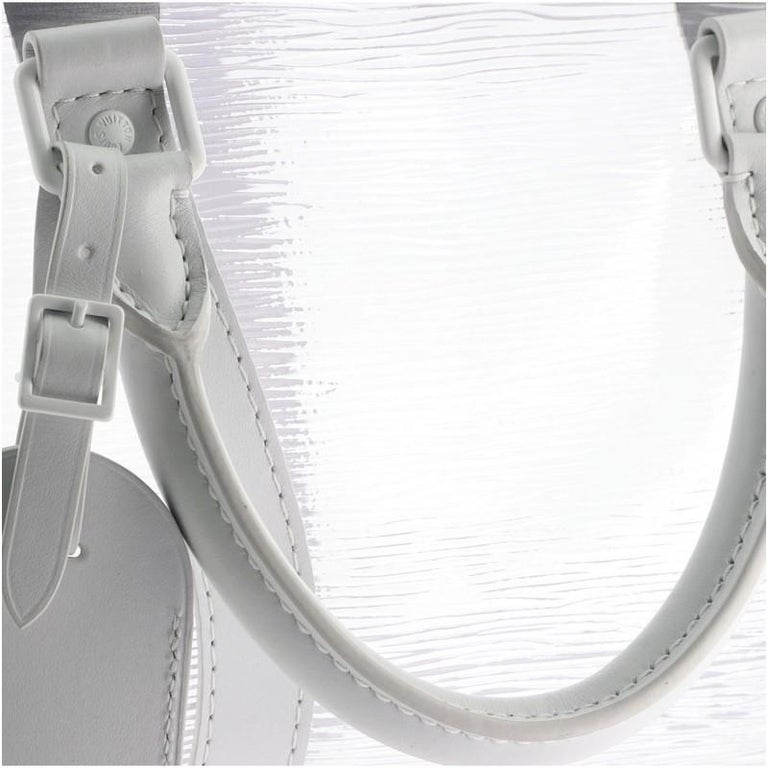 Louis Vuitton Keepall Bandouliere Bag Limited Edition Epi Plage Leather 5 For Sale 4