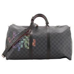 Louis Vuitton Keepall Bandouliere Bag Limited Edition Interlinked Logo Damier