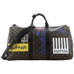 Louis Vuitton Keepall Bandouliere Bag Limited Edition Logo Story Monogram Canvas