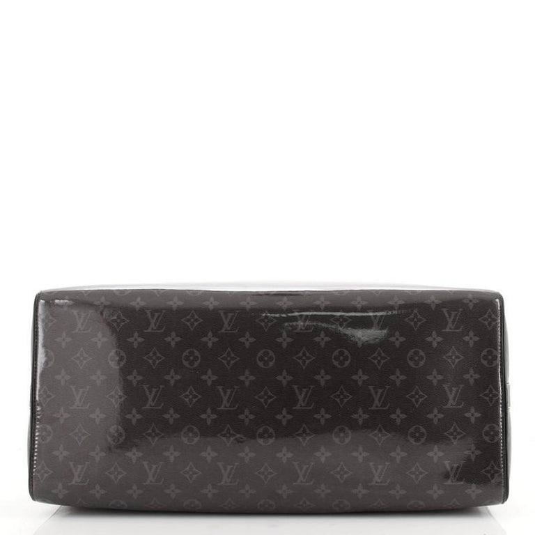 Louis Vuitton Keepall Bandouliere Bag Limited Edition Monogram Eclipse Glaze In Good Condition For Sale In New York, NY