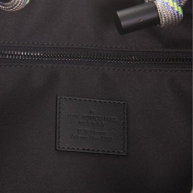 Louis Vuitton Keepall Bandouliere Bag Limited Edition Monogram Eclipse Glaze For Sale 1
