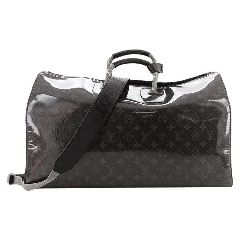 Louis Vuitton Keepall Bandouliere Bag Limited Edition Monogram Eclipse Glaze For Sale