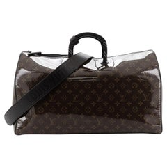Louis Vuitton Keepall Bandouliere Bag Limited Edition Monogram Glaze Canv