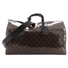 Louis Vuitton Keepall Bandouliere Bag Limited Edition Monogram Glaze Canvas 50