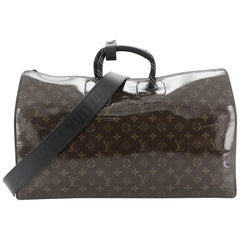 Louis Vuitton Keepall Bandouliere Bag Limited Edition Monogram Glaze Canvas 50