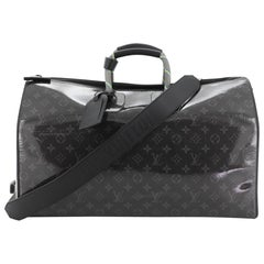 Louis Vuitton Keepall Bandouliere Bag Limited Edition Monogram Glaze Eclipse Can