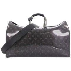 Louis Vuitton Keepall Bandouliere Bag Limited Edition Monogram Glaze Eclipse