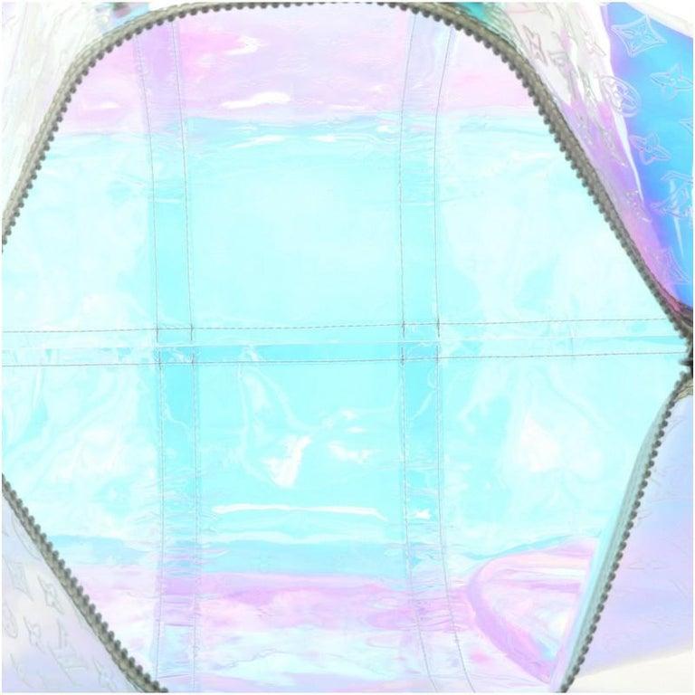 Louis Vuitton Keepall Bandouliere Bag Limited Edition Monogram Prism PVC 50 For Sale 1