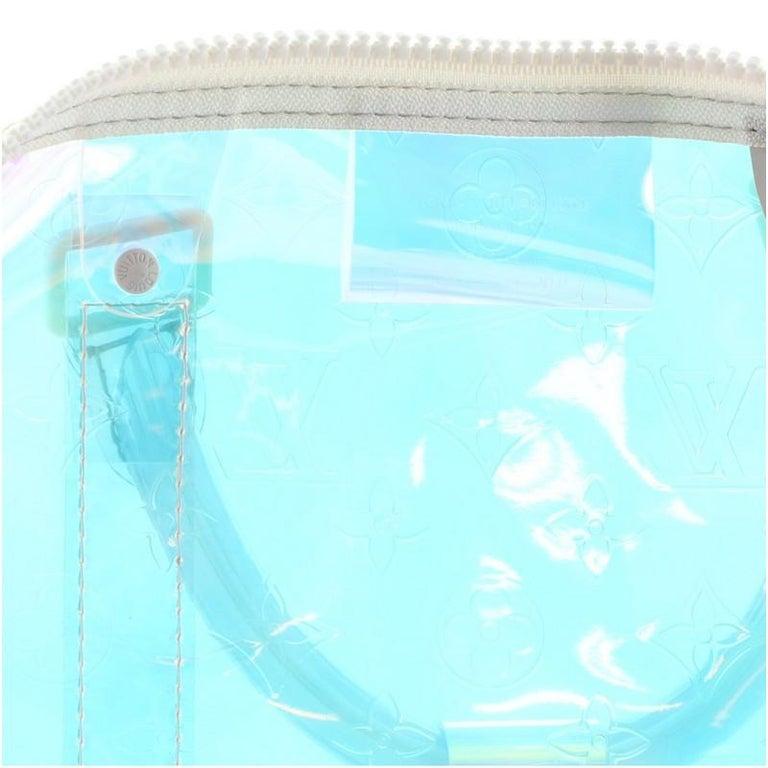 Louis Vuitton Keepall Bandouliere Bag Limited Edition Monogram Prism PVC 50 For Sale 2