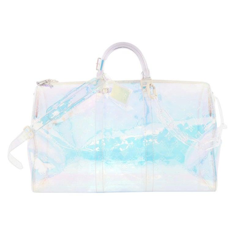 8700e1c75a9 Louis Vuitton Keepall Bandouliere Bag Limited Edition Monogram Prism PVC 50