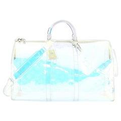 Louis Vuitton Keepall Bandouliere Bag Limited Edition Monogram Prism PVC