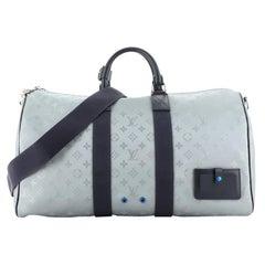 Louis Vuitton Keepall Bandouliere Bag Limited Edition Monogram Satellite