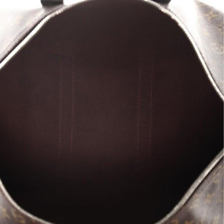 Women's or Men's Louis Vuitton Keepall Bandouliere Bag Macassar Monogram Canvas 45